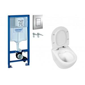 Zestaw WC stelaż Grohe z miską i deską CARO