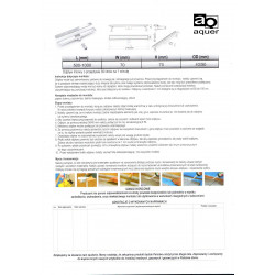 2Odpływ liniowy prysznicowy PREMIUM LINES 800mm