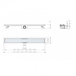 2Odpływ liniowy prysznicowy PREMIUM LINES 1000mm